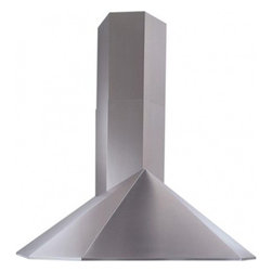 """Best - KEX3048SS 48""""  Chimney Style Wall Mount Chimney Hood with Multiple Exterior/In-L - Best brings only the best this Wall Mount Chimney Hood with Multiple ExteriorIn-Line Blower Options features Heat Sentry which is a smart feature that detects excessive heat and adjusts speed to high automatically 4-speed push-button controls are tas..."""