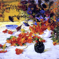 "Jonas Lie The Black Teapot - 16"" x 20"" Premium Archival Print - 16"" x 20"" Jonas Lie The Black Teapot premium archival print reproduced to meet museum quality standards. Our museum quality archival prints are produced using high-precision print technology for a more accurate reproduction printed on high quality, heavyweight matte presentation paper with fade-resistant, archival inks. Our progressive business model allows us to offer works of art to you at the best wholesale pricing, significantly less than art gallery prices, affordable to all. This line of artwork is produced with extra white border space (if you choose to have it framed, for your framer to work with to frame properly or utilize a larger mat and/or frame).  We present a comprehensive collection of exceptional art reproductions byJonas Lie."