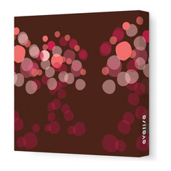 "Avalisa - Imagination - Wonder Stretched Wall Art, 12"" x 12"", Brown Red -"