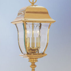 """Designers Fountain - Designers Fountain 1554-PVD-PB 3 Light 10"""" Hanging Lantern Solid Brass PVD from - Features:"""