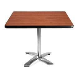 OFM - OFM 42 Square Flip-Top Multi-Purpose Table, Cherry - This 42 square table looks elegant in both lunch and meeting rooms and looks great with the model 310 stack chairs. The banding makes the edges smooth and gives it a finished appearance. The honeycomb core makes the table both lightweight and sturdy.