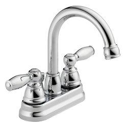 Peerless - Peerless Two Traditional Handle Neo Centerset Lavatory Faucet (P299685LF) - Peerless P299685LF Two Traditional Handle Neo Centerset Lavatory Faucet, Chrome