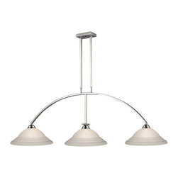 Z-Lite - Z-Lite Martini Kitchen Island / Billiard X-61WS-NB151 - Clean and contemporary, this three light fixture finished in brushed nickel would be the perfect addition to any room of the home. Complimenting white swirl glass shades complete this modern look, while telescoping rods ensure the perfect hanging height.