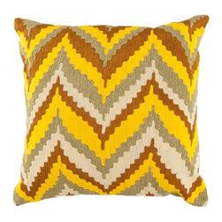 "Surya - Surya 18 x 18 Decorative Pillow, Soft Yellow (AR055-1818P) - Surya AR055-1818P 18"" x 18"" Decorative Pillow, Soft Yellow"