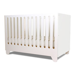Spot on Square - Hiya Crib With MDF End Panels, Polar White - Designed by Bob Springer, part of the Spot on Square Hiya Collection.