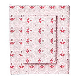 Kerala Sheet Set - This micro floral print is so art deco. I adore the print and its surprising versatility.
