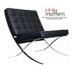 "IFN Modern - Spanish Pavilion Chair with available Ottoman - Chair Dimensions: 31.5"" H x 30\"" W x 31.5\"" DOttoman Dimensions: 17\"" H x 25\"" W x 21\"" DTop grain leather on all parts 
