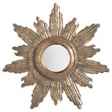 Handpainted Halo Sunburst Mirror | Wisteria