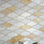 Clouds Glass Mosaic - Clouds, a jewel glass mosaic in Opal, Agate, and Moonstone, is part of the Erin Adams Collection for New Ravenna Mosaics.