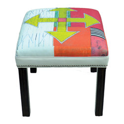 "Carrier Collective - ""Cross Roads"" Ottoman - Meet ""Cross Roads"".  One of our Native American inspired designed Ottomans."