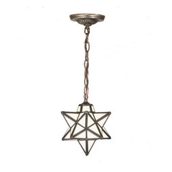 "Meyda Lighting - Meyda Lighting 9"" W Moravian Star White Mini Pendant 21838 - Grace your home with this timeless ceiling fixture, hand crafted of Cloud White art glass. Dating back to Moravia, hundreds of years ago, the star was used to protect your home and bring good luck to your family. The Meyda Tiffany Moravian Star pendant is suspended from chain and canopy in a Mahogany Bronze hand applied finish."