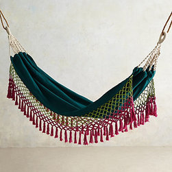 Canyon Fringe Hammock, Green - A hammock is definitely on my wish list, and this has got to be one of my favorites. I love the colors and bohemian feel — I can just picture lounging here with a good book and a cocktail!