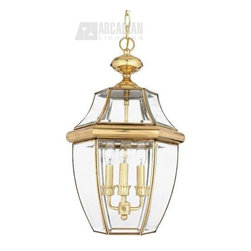 Quoizel - Quoizel QZ-NY1179B Newbury Traditional Outdoor Hanging Lantern - When it comes to curb appeal, outdoor lighting plays a large part in creating a special ambiance.  The classic design and beveled glass of the Newbury gives the outside of your home a rich elegance, without making it look overembellished.  It�۪s a versatile look that coordinates with most any architectural style.