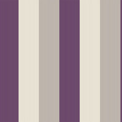 Graham & Brown - Stria Plum Wallpaper - A classic striped wallpaper with added texture to give an added depth and warmth to any wall.