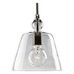 Progress Lighting - Progress Lighting P5184-104 One-Light Mini-Pendant With Clear Glass - One-light stem hung mini-pendant with clear glass.
