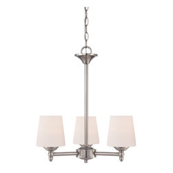 Designers Fountain - Designers Fountain Darcy Chandelier with Opal, Brushed Nickel X-53-3-60051 - Designers Fountain Darcy Chandelier with Opal, Brushed Nickel X-53-3-60051