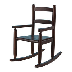 """KidKraft - Kidkraft Home Indoor Kids Wooden Comfortable 2-Slat Rocker Chair Espresso - Our 2-Slat Rocking Chair brings new life to the 2-slat design. If unsure about exactly which rocking chair you want to purchase, this classic design is a wise, safe decision. Dimension: 21.5""""Lx 14.25""""Wx 23.5""""H, SEAT 10.5""""H"""
