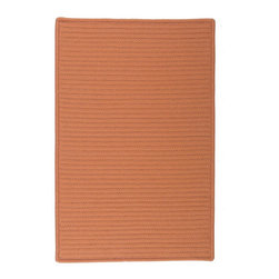 Colonial Mills - Colonial Mills Simply Home Solid H073 Rust Rug H073R024X036S 2x3 - Practical. Colorful. Versatile. Maintenance-free. Simply pick from 37 colors to find the perfect solid-color indoor/outdoor rug for your space.
