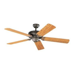 "Sea Gull Lighting - Indoor Ceiling Fans: Sea Gull Lighting Celebrity 52 in. Indoor Heirloom Bronze C - Shop for Lighting & Fans at The Home Depot. The Sea Gull Lighting 52 in. Celebrity Deluxe Ceiling Fan in heirloom bronze features a 172.0 X 14.0 3 speed motor with a thirteen degree blade pitch. Superior triple capacitor speed control offers country quite"" operation on all speeds. Precision made silicon steel motor with 100% copper windings offer the most efficient performance. Three forward and three reverse speeds with slide switch directional and pull chain speed controls. The full size 300mm housing is constructed of heavy gauge steel with integral switches housing design. Extra-wide 150mm blade sets are perfectly balanced for smooth operation, optimal air movement, and secured with die-cast blind tapped blade irons. Heavy duty ball and bracket are both made of die-cast zinc and deliver smooth balanced operation. Extra safe, locking down rod system included."