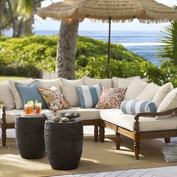 Faraday Sectional Set - If we are going to be slaving over a hot grill, then we at least deserve a fabulous place to rest, don't you agree? This gorgeous sectional will do the trick! If only Pottery Barn could just include the palm trees and the ocean view.