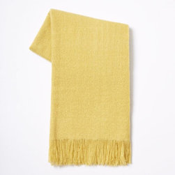 Favorite Throw, Lemon Wood - This yellow is so buttery and perfect for cool spring nights.