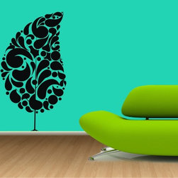 StickONmania - Modern Tree Sticker - A stylish modern tree sticker for your wall. Decorate your home with original vinyl decals made to order in our shop located in the USA. We only use the best equipment and materials to guarantee the everlasting quality of each vinyl sticker. Our original wall art design stickers are easy to apply on most flat surfaces, including slightly textured walls, windows, mirrors, or any smooth surface. Some wall decals may come in multiple pieces due to the size of the design, different sizes of most of our vinyl stickers are available, please message us for a quote. Interior wall decor stickers come with a MATTE finish that is easier to remove from painted surfaces but Exterior stickers for cars,  bathrooms and refrigerators come with a stickier GLOSSY finish that can also be used for exterior purposes. We DO NOT recommend using glossy finish stickers on walls. All of our Vinyl wall decals are removable but not re-positionable, simply peel and stick, no glue or chemicals needed. Our decals always come with instructions and if you order from Houzz we will always add a small thank you gift.