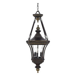 Quoizel Lighting - Quoizel Lighting DE1490IB Williamsburg 3 Light Outdoor PendantDevon Collection - Treat the exterior of your home with lighting worthy of the beauty and security your family deserves.