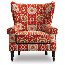eclectic armchairs by Sofa Mart Designer Rooms