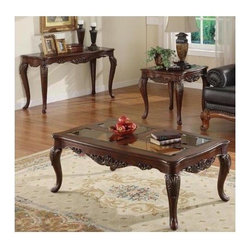Homelegance - Ella Martin 3-Piece Occasional Table Set - When adding the personal touches to your living space that reflect the warmth and elegance of your home, the Ella Martin Collection is the perfect traditional table offering.