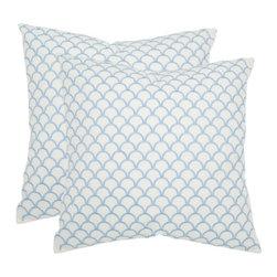 Safavieh - Nikki Accent Pillow - Blue - Nikki Accent Pillow - Blue