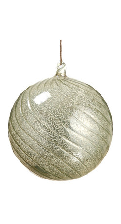 Silk Plants Direct - Silk Plants Direct Mercury Glass Ball Ornament (Pack of 4) - Green Light - Silk Plants Direct specializes in manufacturing, design and supply of the most life-like, premium quality artificial plants, trees, flowers, arrangements, topiaries and containers for home, office and commercial use. Our Mercury Glass Ball Ornament includes the following: