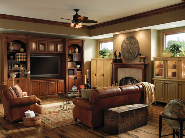 Traditional Family Room by Medallion Cabinetry