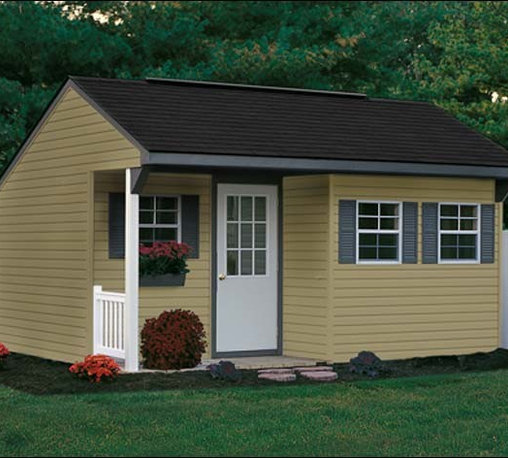 Fifthroom - Porch Nook Shed with Vinyl Siding -