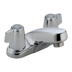 Delta - Delta 2500LF Classic Two Handle Centerset Lavatory Faucet - Less Pop-Up (Chrome) - Delta 2500LF Classic Collection is designed to complement any homes design style  with simple and sensible style. The Delta 2500LF is a two handle Lavatory Faucet in Chrome.