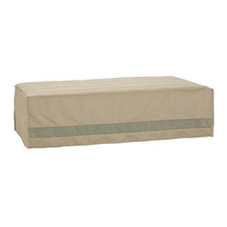 "Outdoor Daybed Cover, Khaki - Prolong the life of your outdoor furniture with our durable covers. Our khaki Outdoor Daybed Cover is designed to protect against rain and snow, and is also highly resistant to punctures and cracks. 80"" wide x 45"" deep x 20"" high Reinforced seams and substantial ties add durability. Built-in vents provide air circulation and prevent mildew. Fits our Chatham Storage Daybed. View our {{link path='pages/popups/fb-outdoor.html' class='popup' width='480' height='300'}}Furniture Brochure{{/link}}."