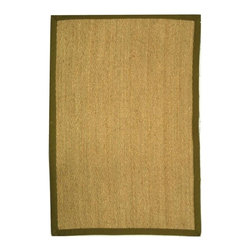 Safavieh - Natural Fiber Rectangular Rug in Natural (12 ft. x 9 ft.) - Size: 12 ft. x 9 ft. Traditional style. Power loomed. Soft and durable. Made from sisal and natural sea grass. Olive colored border. This densely woven rug will add a warm accent and feel to any home. The 100-percent cotton canvas backing adds durability. Care Instructions: Vacuum regularly. Brushless attachment is recommended. Avoid direct and continuous exposure to sunlight. Do not pull loose ends; clip them with scissors to remove. Remove spills immediately; blot with clean cloth by pressing firmly around the spill to absorb as much as possible. For hard-to-remove stains professional rug cleaning is recommended.