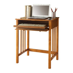 Convenience Concepts - Convenience Concepts Desk X-201090 - Give your home a studious new look! The Designs2Go Mission Desk is constructed in a solid birch veneer. It features a drawer that slides the keyboard tray in an exceptional smooth motion. A sturdy piece that is perfect for work desk, ideal for home office or living room.