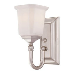 Quoizel Nicholas NL8601 Bath Fixture - 5W in. - Simple and elegant, the Quoizel Nicholas NL8601 Bath Fixture - 5W in. adds a touch of luxury to your bathroom decor. Built from steel, this beautiful fixture comes in your choice of finish, and has an opal etched glass shade with a squared shape. This bath light can be installed as an uplight or downlight, depending on your needs.About Quoizel LightingLocated in Charleston, South Carolina, Quoizel Lighting has been designing timeless lighting fixtures and home accessories since 1930. They offer a distinctive line of over 1,000 styles, including chandeliers, lamps, and hanging pendants. Quoizel Lighting is the perfect way to add an inviting atmosphere to any area in your home, both indoors and out.