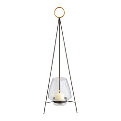 Cyan Design - Tripod Ring Candleholder - Large - Large tripod ring candleholder - graphite