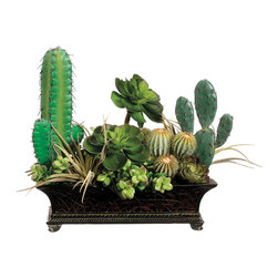 """Silk Plants Direct - Silk Plants Direct Succulent, Cactus and Echeveria (Pack of 1)"""" - Silk Plants Direct specializes in manufacturing, design and supply of the most life-like, premium quality artificial plants, trees, flowers, arrangements, topiaries and containers for home, office and commercial use. Our Succulent, Cactus and Echeveria includes the following:"""