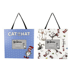 Trend Lab - Dr. Seuss Cat in The Hat Picture Frames, Set of 2 - Why not go all the way? and complete your babys nursery with this wonderful accessory? Display your favorite memories with the Frame Set - Dr. Seuss Cat in The Hat by Trend Lab. Each frame measures 11in x 11.5in and holds a 4 x 6in photo. Frames come with a satin ribbon and keyhole on the back for easy hanging.