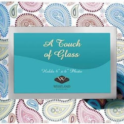 """WL - Glass 4 x 6"""" Photograph Frame with Colorful Paisley Swirls Decoration - This gorgeous Glass 4 x 6"""" Photograph Frame with Colorful Paisley Swirls Decoration has the finest details and highest quality you will find anywhere! Glass 4 x 6"""" Photograph Frame with Colorful Paisley Swirls Decoration is truly remarkable."""