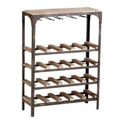 Cyan Design - Cyan Design Gallatin Wine Rack in Brown and Medium Wood - Gallatin Wine Rack in Brown and Medium Wood