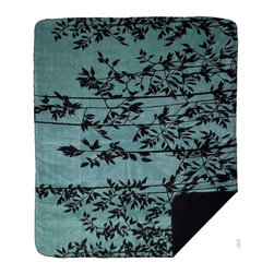 Throw Blanket Denali Branches/Black - Denali micro plush throws are considered the Cadillac of throws due to their rich colors and soft feel. These throws are softer and warmer than fleece.