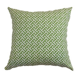 "The Pillow Collection - Quentin Pillow Shamrock - Add a relaxing decor in your room with this accent pillow. The beautiful Shamrock colors: green and white makes this throw pillow a perfect statement piece. The bold geometric print adds dimension to this 18"" pillow. This comfy square pillow is made from 100% cotton fabric. Hidden zipper closure for easy cover removal.  Knife edge finish on all four sides.  Reversible pillow with the same fabric on the back side.  Spot cleaning suggested."