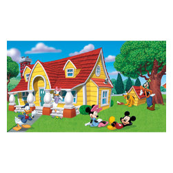 York Wallcoverings - Disney Mickey Friends Giant Wallpaper Accent Mural - Features: