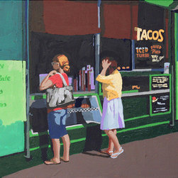 """Taco Stand"" (Original) By Melinda Patrick - They'Re All Over Texas And They'Re All Good. This One Is In Austin. The Painting Is A Study For A Larger Piece Called ""Eat At Jo'S""."