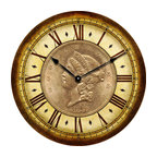 CoinClocks - 1857 Coin Clock - Reproduction of an 1857 Coin will look fabulous in your home of office