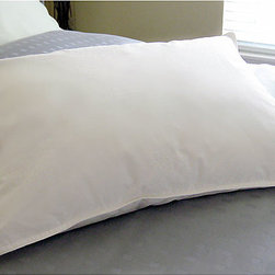 None - Arctica White Down Pillow - Sleep in comfort with this plush white-down pillow. It provides medium firmness,which is idea for side and stomach sleepers,and it has a 233-count cotton cover for added softness. The pillow comes in two different sizes to fit your bed.