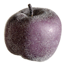 Silk Plants Direct - Silk Plants Direct Frosted Apple Ornament (Pack of 12) - Purple - Silk Plants Direct specializes in manufacturing, design and supply of the most life-like, premium quality artificial plants, trees, flowers, arrangements, topiaries and containers for home, office and commercial use. Our Frosted Apple Ornament includes the following: